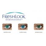 Линзы цветные ежемесячные FreshLook Dimensions (2шт.)